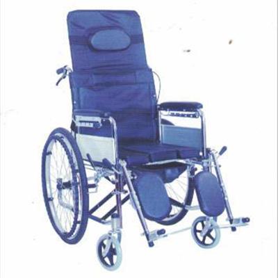 碳钢镀铬全躺手动轮椅JL--6809