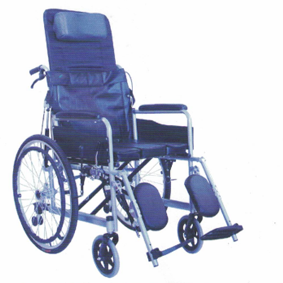 碳钢烤漆全躺手动轮椅JL--6812