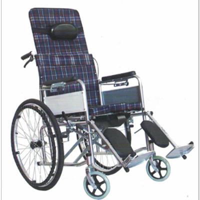 碳钢喷塑半躺手动轮椅JL-6811