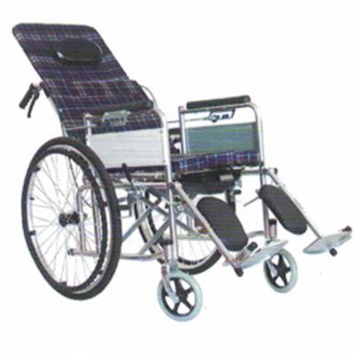 碳钢喷塑半躺手动轮椅JL--6811