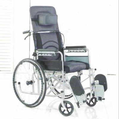 碳钢喷塑全躺手动轮椅JL--6810