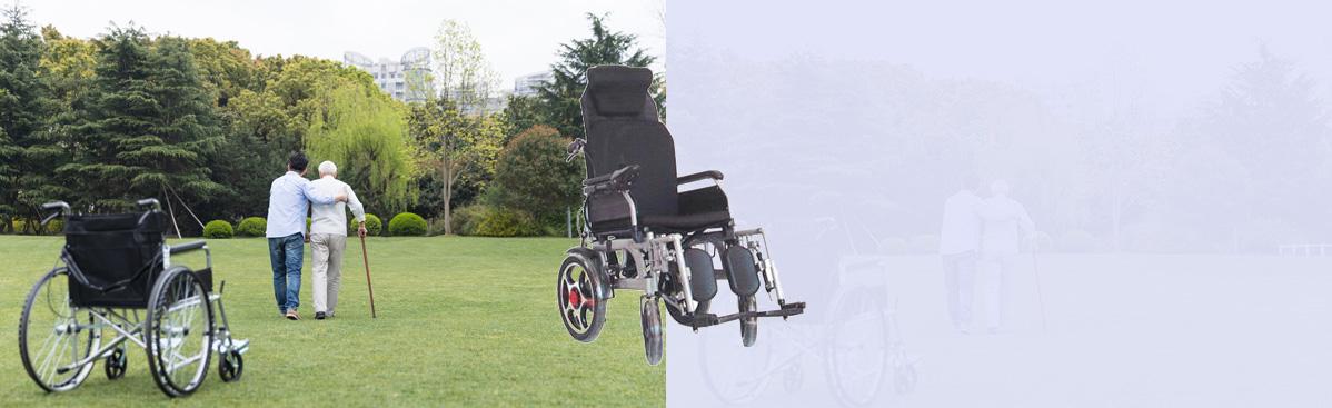 碳钢烤漆电动轮椅
