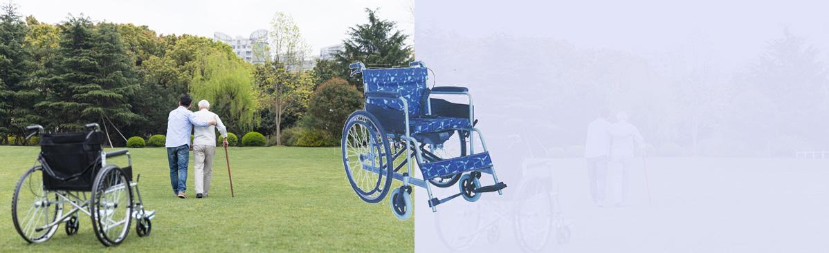 碳钢烤漆手动轮椅