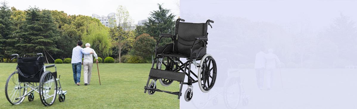 碳钢喷塑手动轮椅