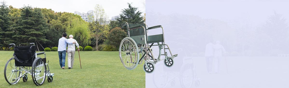 碳钢镀铬手动轮椅